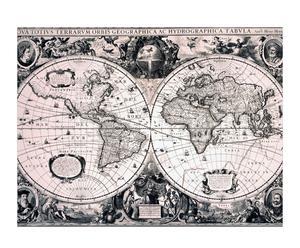 Wereldkaart (1594-1629), van Jodocus Hondius le Jeune
