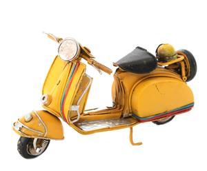 Decoratieve scooter Vespa, geel, L 17 cm