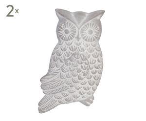 Set van 2 decoratieve uilen Owl