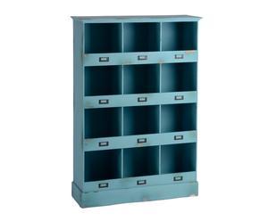 Open kast Georgette, blauw, H 120 cm