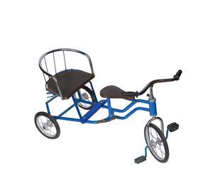 Decoratieve driewieler Bonza, rood/blauw, L 80 cm