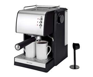 Koffiemachine Merredith, zilver/zwart, H 31 cm