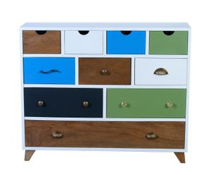 Dressoir Marion, wit/multicolor, L 100 cm