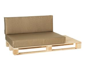 Lounge bank Lexy Lucy, naturel/sepia, L 160 cm