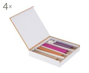 Set van 4 doosjes wierook Dimma, multicolour, L 15 cm