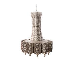 Hanglamp Vera VII, zilver, H 69 cm