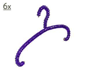6 hangers hook, violet