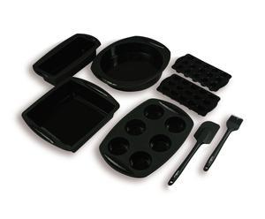 Set van 6 mallen en 2 spatels - siliconen