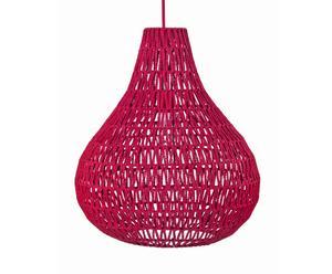 Hanglamp Jasmine, katoen, framboos, 45 cm