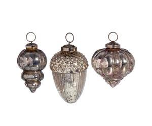Set van 18 kerstballen, gemercuriseerd glas - Diameter 18 cm