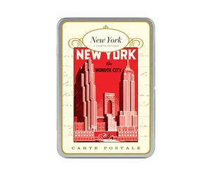 Doosje met 18 postkaarten New York
