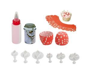 7-delige Cupcakeset