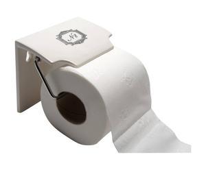 Derouleur Papier toilette  Dolomie, Blanc et noir - L12