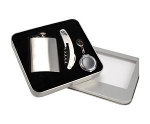 Koffertje Nomade, metaal, zilver - L 17 cm