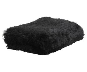 Plaid Jamie, zwart, 130 x 170 cm