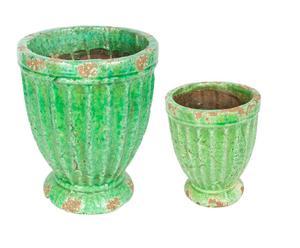 Set van 2 plantenpotten Basilic