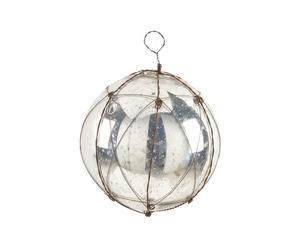 Kerstbal Star, Zilver - diameter 15