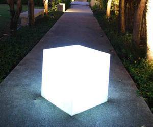 Buitenlamp, wit - L 40 cm