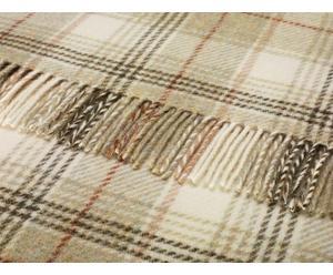 Plaid/deken met franje Sage Shetland