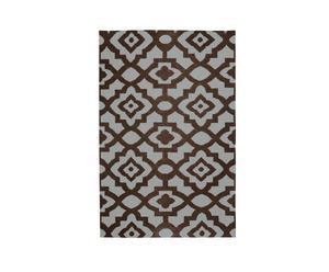 Tapijt mosaiek, wol, chocoladebruin, 243 x 335 cm
