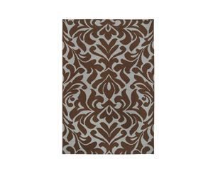 Tapijt floral, wol, chocoladebruin, 243 x 335 cm