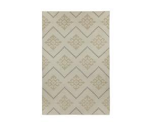 Tapijt ANNIE, beige en wit, 244 x 152 cm