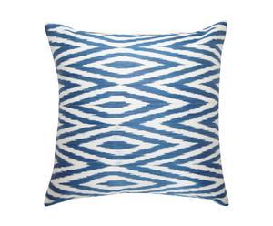 Kussen Blue marine, zijde en katoen, 45 x 45 cm