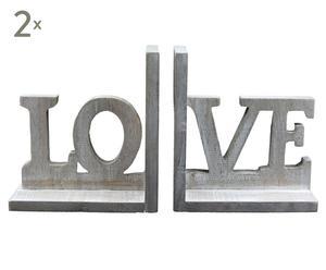 Boekensteun LOVE, 4-delig
