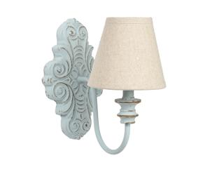 Wandlamp Antoinette, lichtblauw