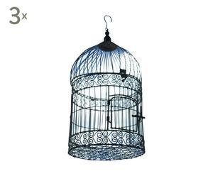 Decoratieve vogelkooien NELLIGAN, 3 stuks