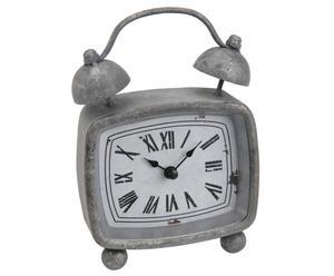 Wekker Awake, grijs, H 17 cm