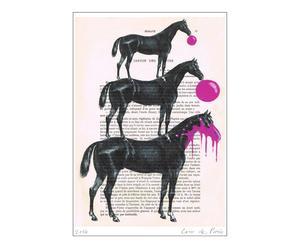 Poster Paarden met chewing-gum, A3