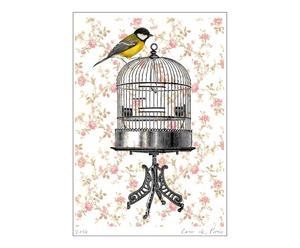 Poster Vogel in vogelkooi, A3