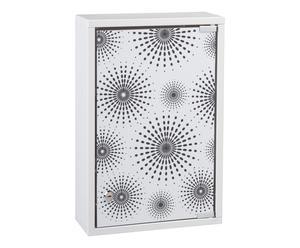 Medicijnkastje Fifties, zwart en wit, 30x12 cm