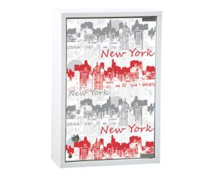 Medicijnkastje City, wit en rood, 30x12 cm