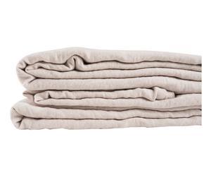 Dekbedovertrek Cato, gewassen linnen, poederroze, 240 x 260 cm