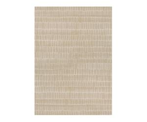 Handgeknoopt tapijt Kim, beige, 140 x 200 cm