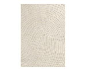Handgetuft tapijt Hoa, wit 170 x 240 cm
