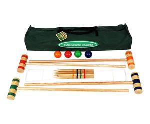 Croquet spel, hout, H 96 cm