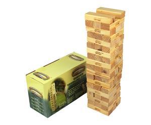 Jenga spel, hout, naturel, L 18 cm