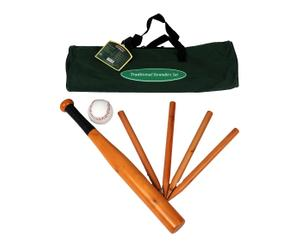 Set voor Baseball, hout, wit, naturel, L 5 2cm