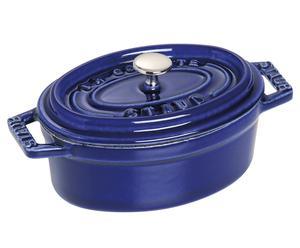 Cocotte ovale Fonte émaillée, Bleu intense  - L11