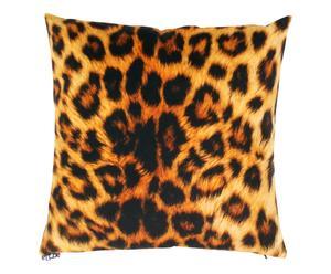 Coussin PANTÈRE polyester, orange et noir - 40*40