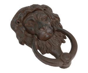 Deurklopper Lion, bruin, H 20 cm