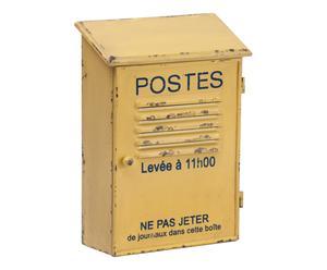 Brievenbus Posta, geel, H 31 cm