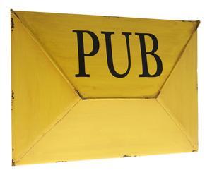 Brievenbus Pub, geel, L 34 cm