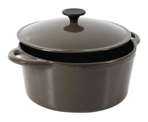 Braadpan Pascale, taupe/zwart, diameter 24 cm