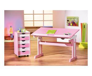 Ladekast Pinkie, roze/wit, L 36 cm