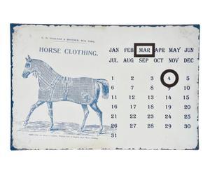 Kalender Ramon, zink, creme, 36x24 cm