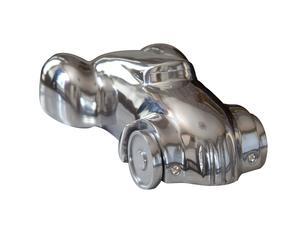 Decoratieve auto Voiture, zilver, L 23 cm